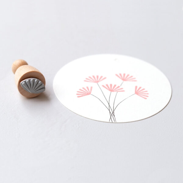 Fan Motif Mini Rubber Stamp
