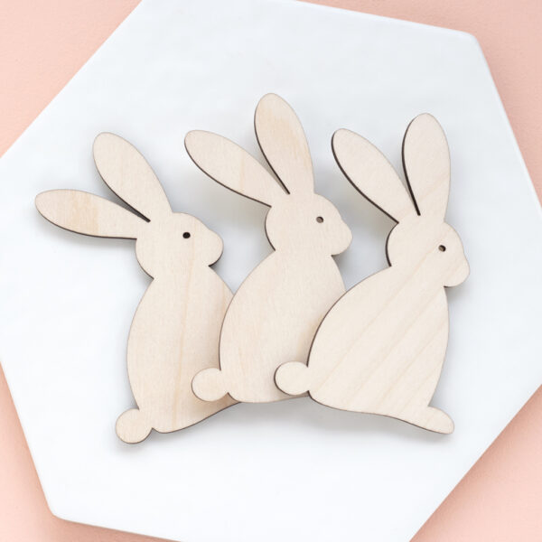 MODERN EASTER BUNNY CARD TOPPER