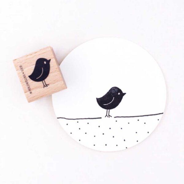 Mr Birdie Rubber Stamp