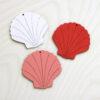 pastel wooden shells