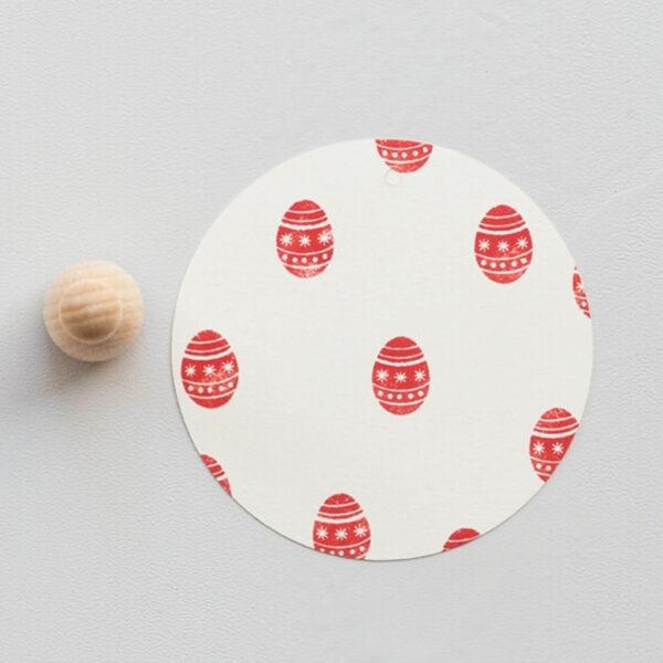 Patterned easter egg rubber stamp