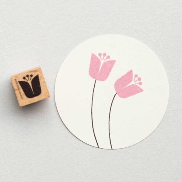 Tulip Head Rubber Stamp