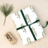 eucalyptus stamp wrapping green