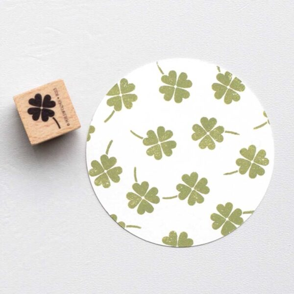 Four Leaf Clover Rubber Stamp