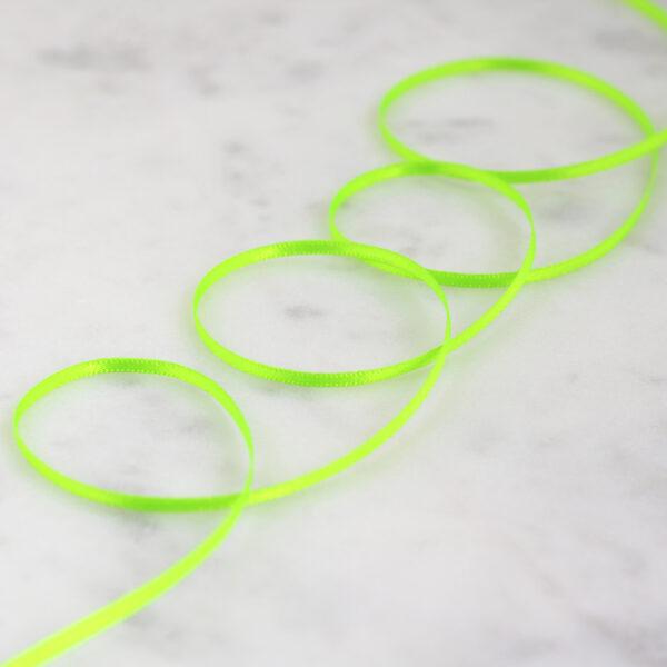green neon satin ribbon