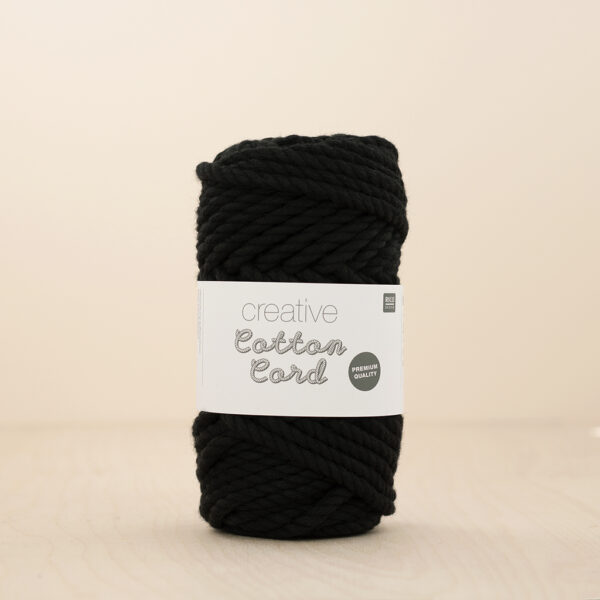 Rico Cotton Cord Black