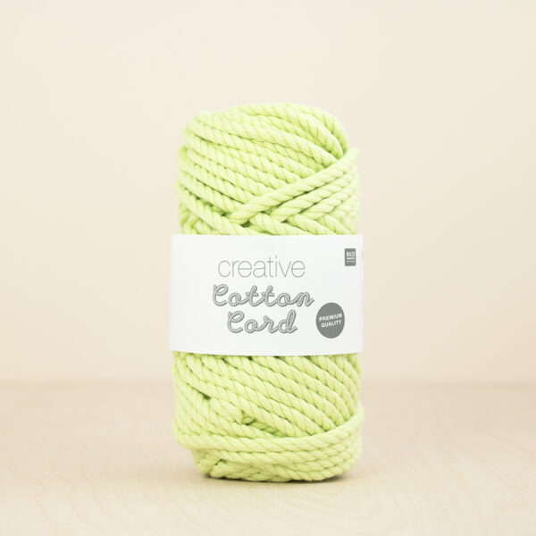 Pastel Green Cotton Cord by Rico