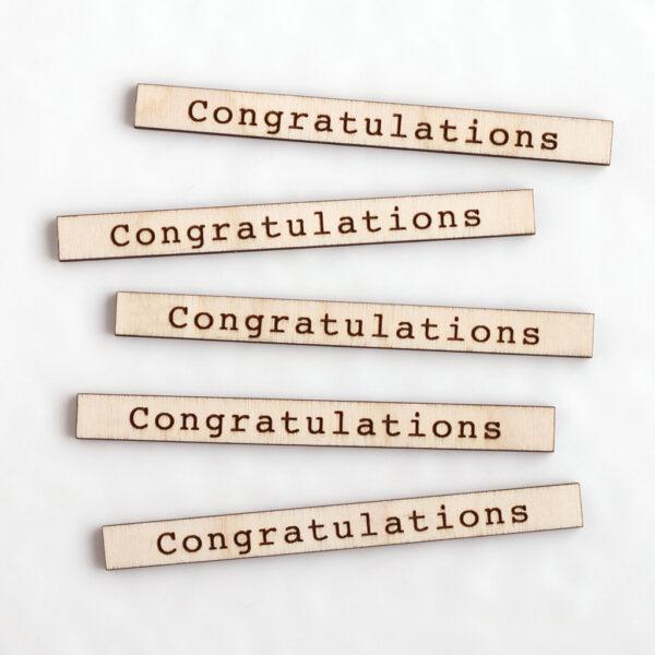 Congratulations Etched Sentiments