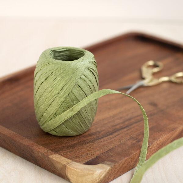 Sage Green Paper Raffia