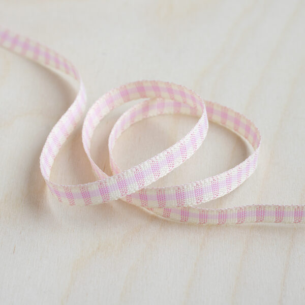 Pink & Ivory Rustic Gingham Ribbon