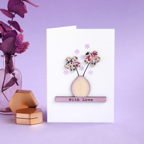Handmade 'With Love' Sentiment Card