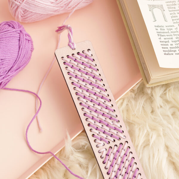 wooden embroidery bookmark