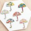 Wooden Umbrellas Made With Liberty Fabrics