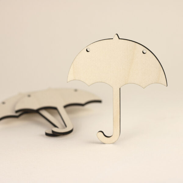 Wooden Umbrella Bunting