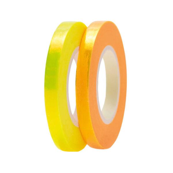 yellow and orange washi tapemix