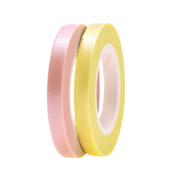 Yellow and rose washi tape