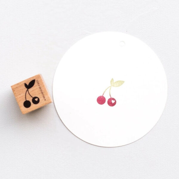 Cherry Block Rubber Stamp by Perlenfischer
