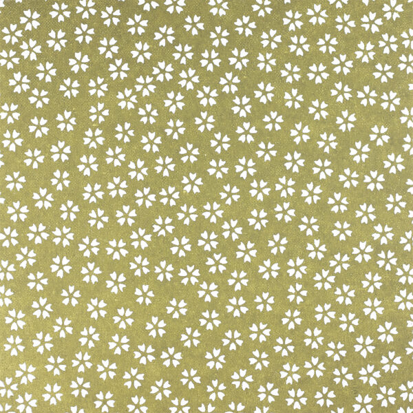 Khaki Freesia Chiyogami Paper