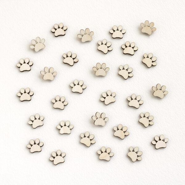 Mini Wooden Paw Prints