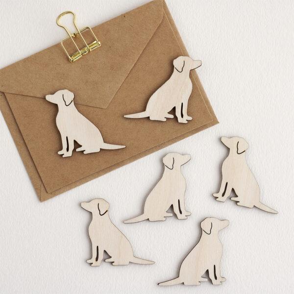 Mini Wooden Dog Embellishments
