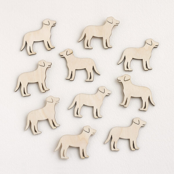 Mini Wooden Standing Dogs