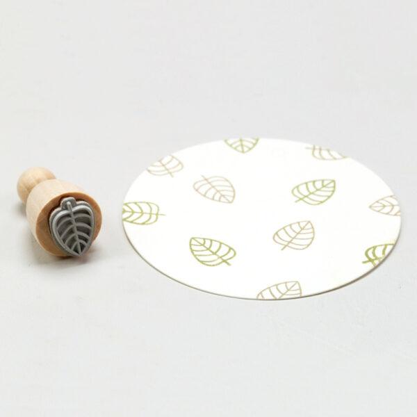 Open Leaf Mini Rubber Stamp Perlenfischer