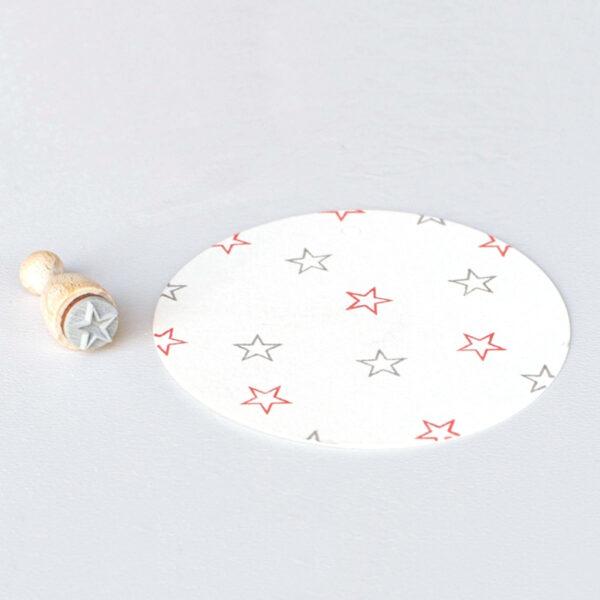 Open star mini rubber stamp