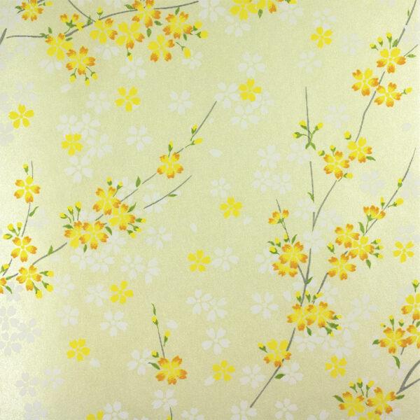 Lemon Blossom Chiyogami Paper