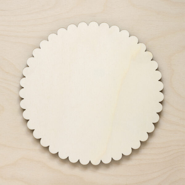 Wooden Scallop Placemats