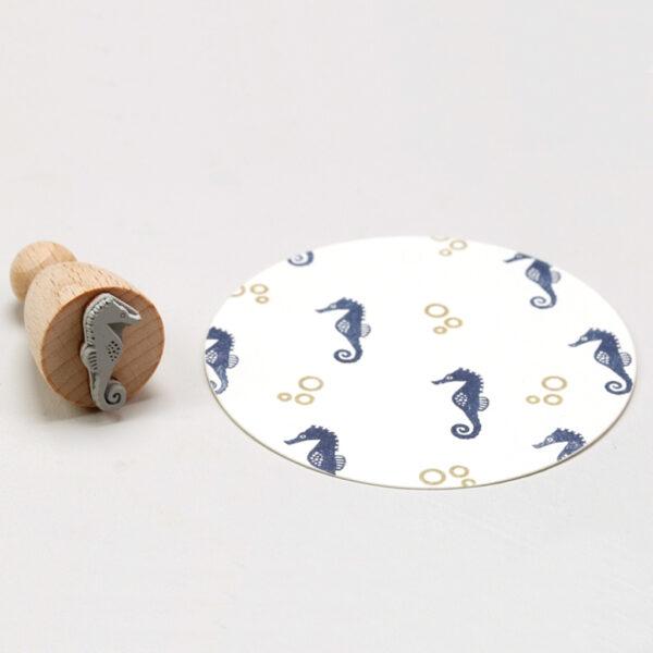 Seahorse Rubber Stamp by Perlenfischer