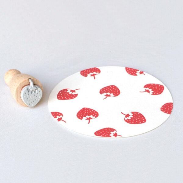 Strawberry Mini Rubber Stamp