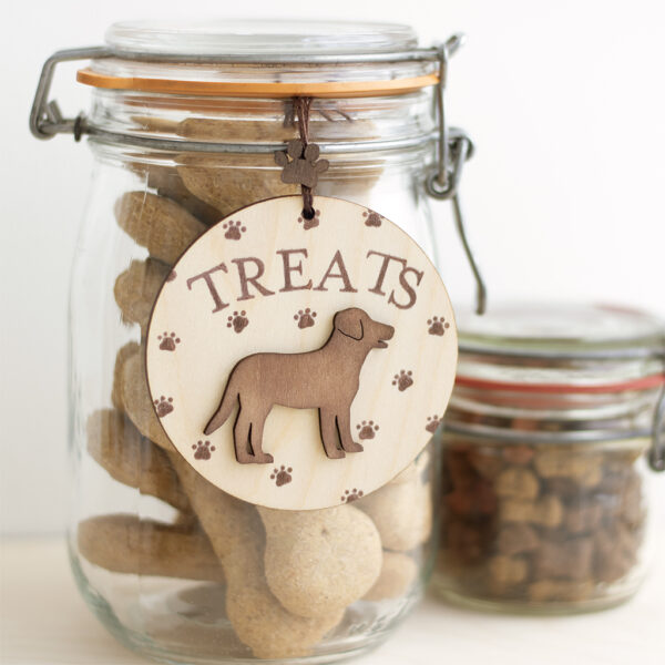 Wooden Dogs Treats Tag