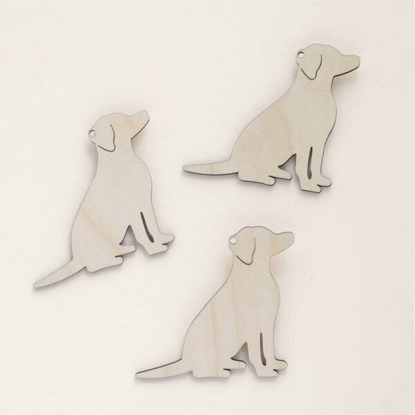 Wooden Sitting Dogs