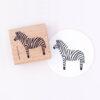 Zebra Rubber Stamp by Perlenfischer