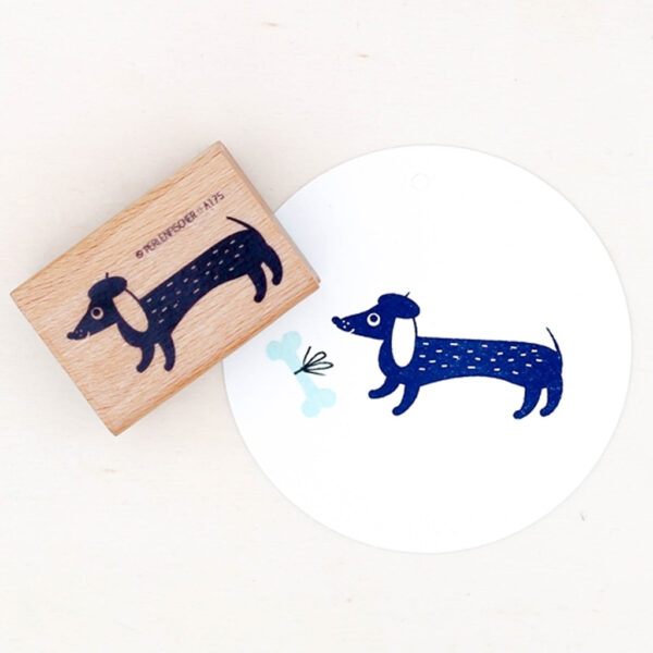 sausage dog rubber stamp