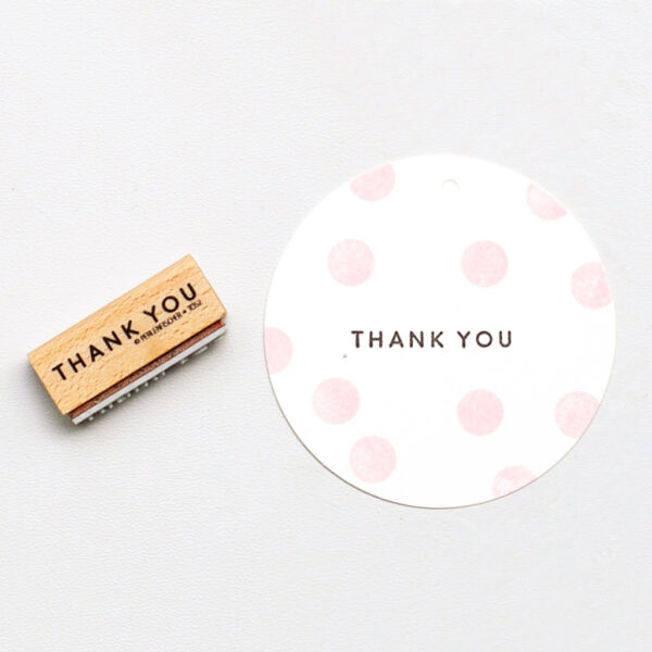 Thank you rubber stamp by perlenfischer