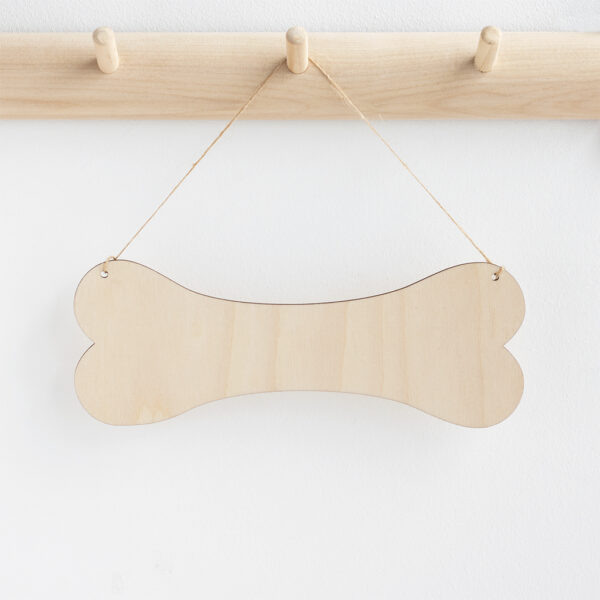 Wooden dog bone