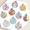 Mini Wooden Apples Made With Liberty Fabrics