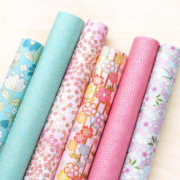 Chiyogami Paper Set Blues & Pinks