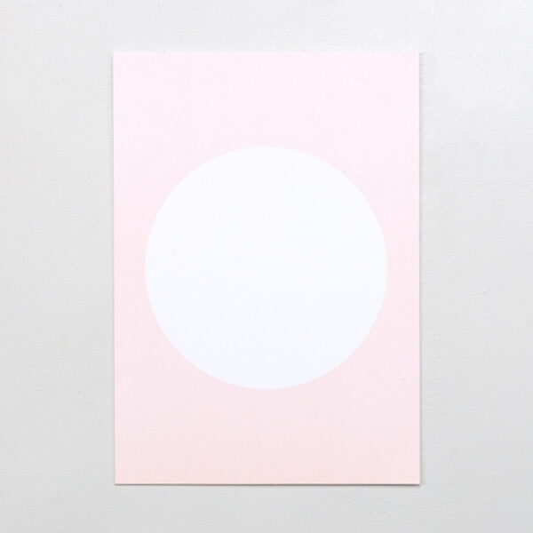 Postcard in Pastel Pink