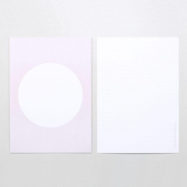 soft lavender post card