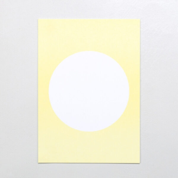 Postcard in Lemon Yellow