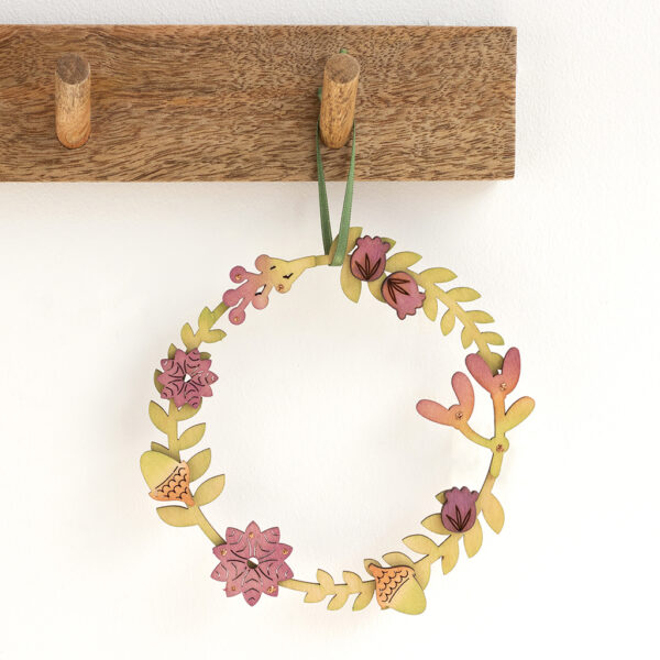Small autumnal wreath made from Birch wood
