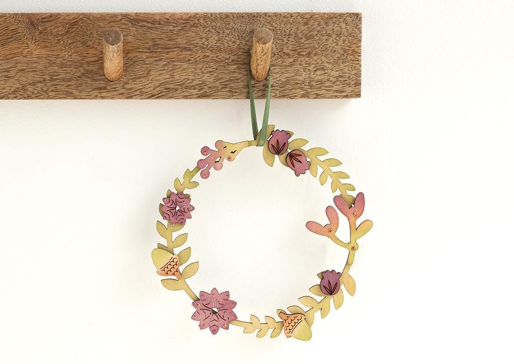 Autumnal wreath decorations handmade