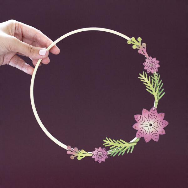Autumnal handmade half-wreath
