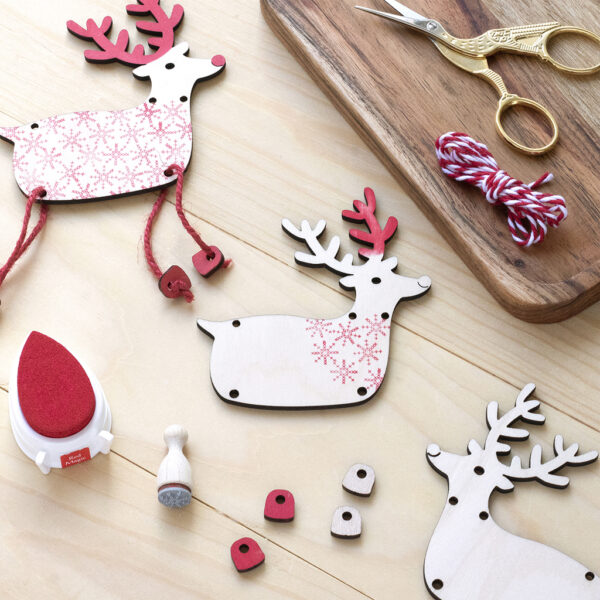 Reindeer Bunting Craft Kit made from Birch wood