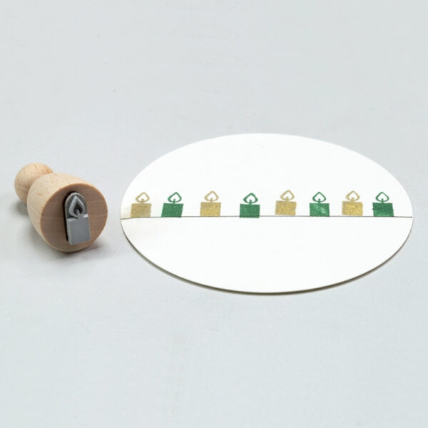 Candle Mini Rubber Stamp