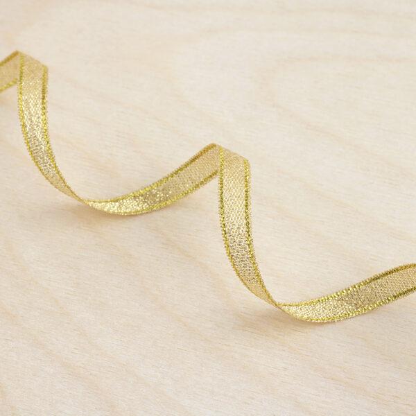 Gold Metallic Woven Ribbon