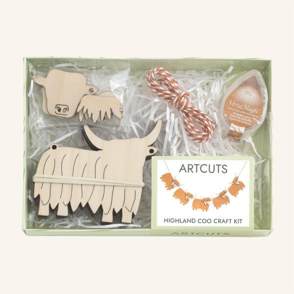 Highland Coo Artcuts Craft Kit
