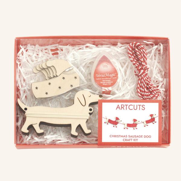 Christmas Sausage Dog Craft Kit